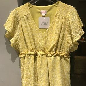 Yellow maternity shirt